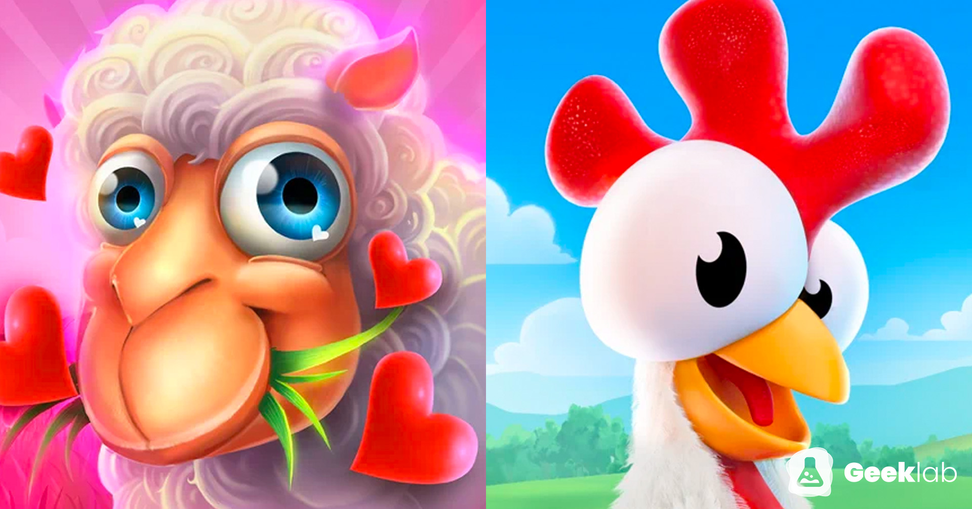 Identical copy cat games: Example of Let's Farm and Hay Day